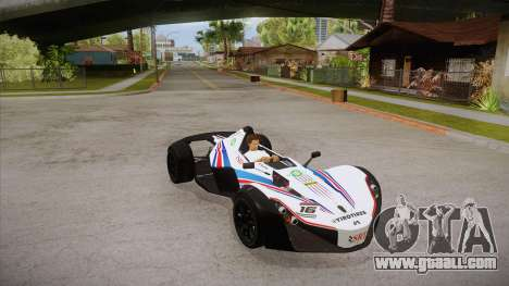 BAC Mono 2011 for GTA San Andreas upper view