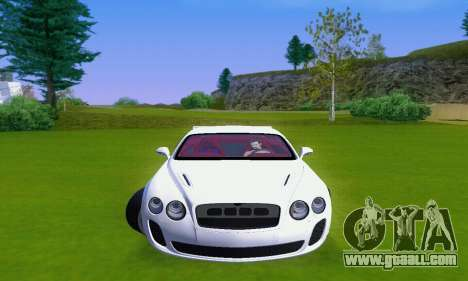 Bentley Continental Extremesports for GTA San Andreas left view