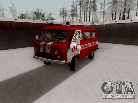 UAZ 452 Fire Staff Penza Russia for GTA San Andreas interior