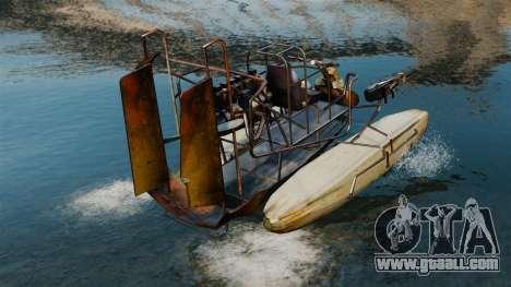 Air boat for GTA 4 back left view