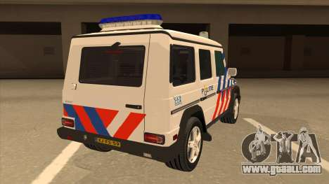 European Emergency Mercedes-Benz G 2008 for GTA San Andreas right view
