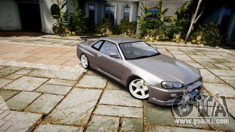 Nissan Skyline GTR-34 v1.0 for GTA 4 back left view