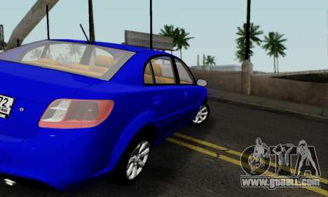Kia Rio for GTA San Andreas right view