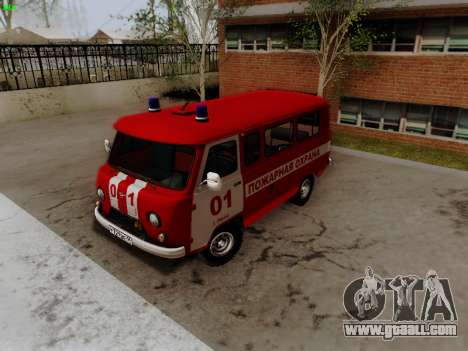 UAZ 452 Fire Staff Penza Russia for GTA San Andreas left view