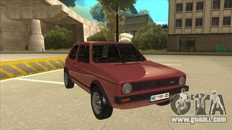 Volkswagen Golf 1 TAS for GTA San Andreas left view