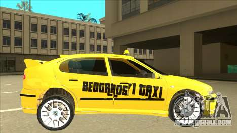 Seat Leon Belgrade Taxi for GTA San Andreas back left view