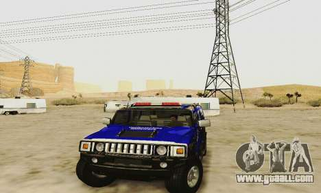 THW Hummer H2 for GTA San Andreas inner view