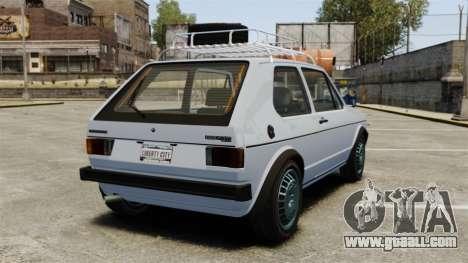 Volkswagen Golf MK1 GTI Rat Style for GTA 4 back left view