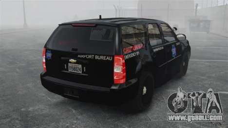 Chevrolet Tahoe 2010 PPV SFPD v1.4 [ELS] for GTA 4 back left view
