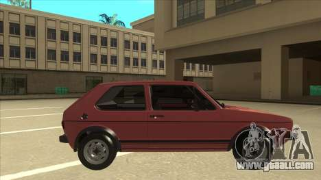 Volkswagen Golf 1 TAS for GTA San Andreas back left view