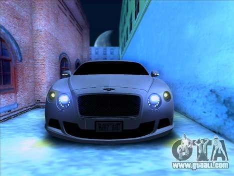 Bentley Continental GT Final 2011 for GTA San Andreas back view