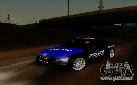 Audi RS5 2011 Police for GTA San Andreas back view