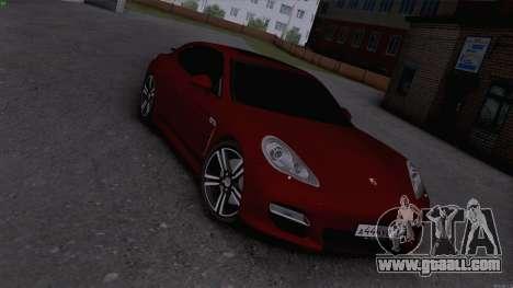 Porsche Panamera for GTA San Andreas back left view
