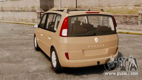 Renault Espace IV Initiale for GTA 4 back left view