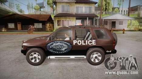 Nissan Terrano RB26DETT Police for GTA San Andreas left view