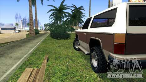 Rancher Bronco for GTA San Andreas right view