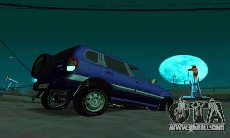 21236 Chevrolet Niva VAZ for GTA San Andreas back left view