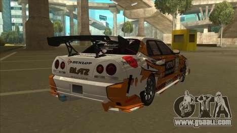 Nissan Skyline ER34 Uras GT Blitz 2010 for GTA San Andreas back left view
