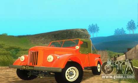 GAZ 69 Pickup for GTA San Andreas left view