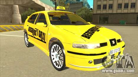 Seat Leon Belgrade Taxi for GTA San Andreas left view
