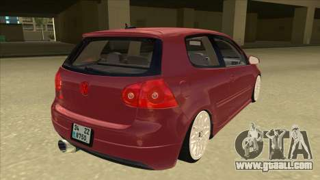 Volkswagen Golf V for GTA San Andreas right view