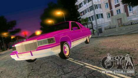 Cadillac Fleetwood Coupe for GTA Vice City back view