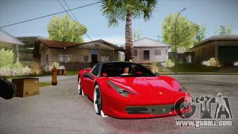 Ferrari 458 Italia Novitec Rosso 2012 v2.0 for GTA San Andreas