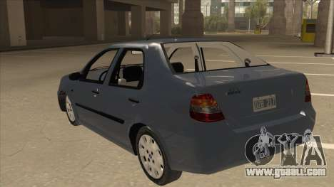 Fiat Siena Ex for GTA San Andreas back view
