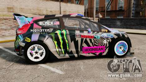 Ford Fiesta Gymkhana 6 Ken Block [Hoonigan] 2013 for GTA 4 left view
