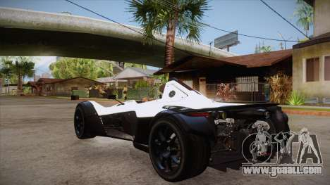 BAC Mono 2011 for GTA San Andreas back left view
