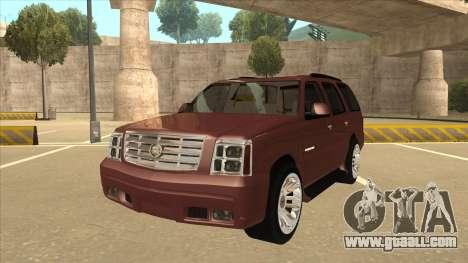Cadillac Escalade 2002 for GTA San Andreas