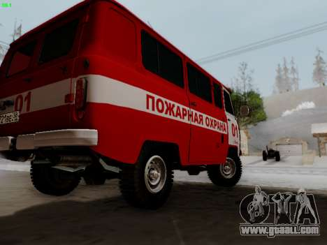 UAZ 452 Fire Staff Penza Russia for GTA San Andreas right view
