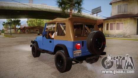 Jeep Wrangler V10 TT Black Revel for GTA San Andreas back left view