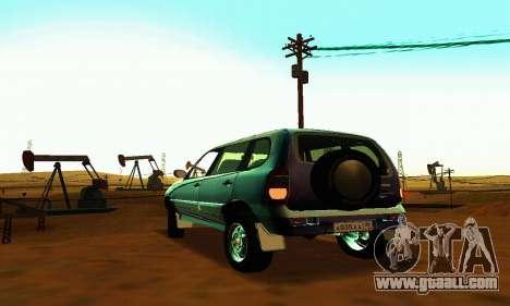 21236 Chevrolet Niva VAZ for GTA San Andreas back view