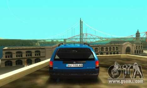 Opel Astra F Caravan for GTA San Andreas inner view