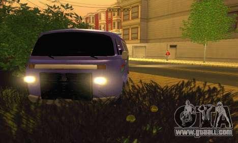 VW Kombi ESCOLAR for GTA San Andreas back view