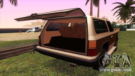 Rancher Bronco for GTA San Andreas side view
