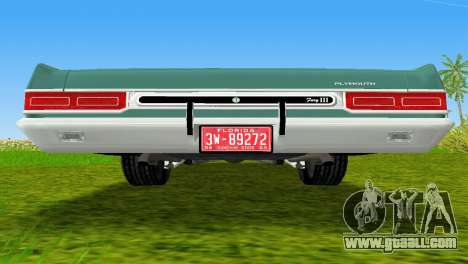 Plymouth Fury III 1969 Coupe for GTA Vice City side view