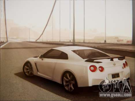 Nissan GT-R R35 Spec V 2010 for GTA San Andreas right view