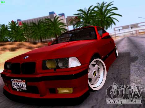 BMW M3 E36 Stance for GTA San Andreas back view