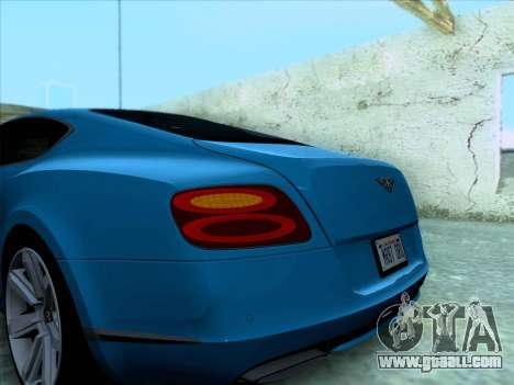 Bentley Continental GT Final 2011 for GTA San Andreas side view