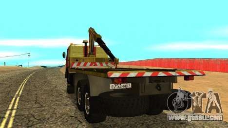 KAMAZ 43114 tow truck for GTA San Andreas right view