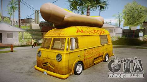 Hot Dog Van Custom for GTA San Andreas
