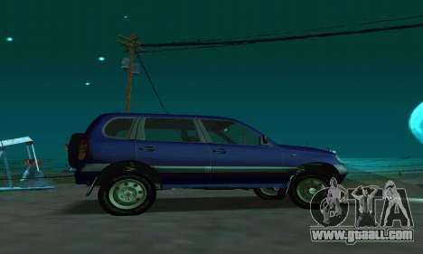21236 Chevrolet Niva VAZ for GTA San Andreas left view