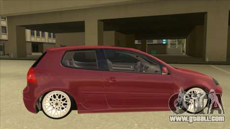 Volkswagen Golf V for GTA San Andreas back left view