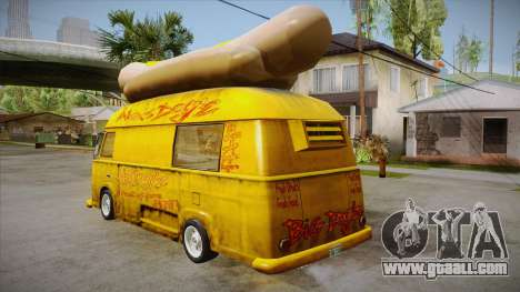 Hot Dog Van Custom for GTA San Andreas back left view