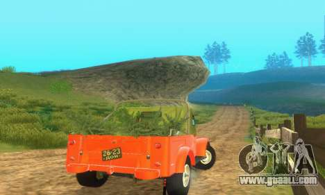 GAZ 69 Pickup for GTA San Andreas back view