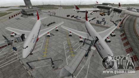 The Turkish Airlines aircraft for GTA 4 left view