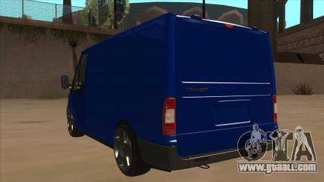 Ford Transit Swb 2011 Stance for GTA San Andreas back view