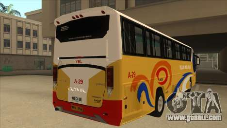 Yellow Bus Line A-29 for GTA San Andreas back view